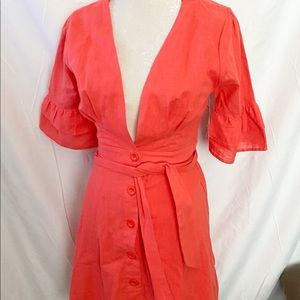 NWT FAVLUX FASHION-Coral Dress - L